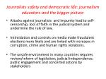 journalists safety and democratic life journalism educators and the bigger picture
