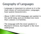 geography of languages