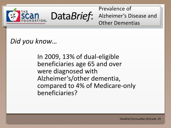 prevalence of alzheimer s disease and other dementias n.