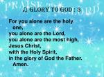 glory to god 3