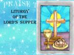 liturgy of the lord s supper