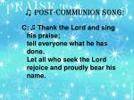post communion song