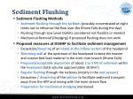 sediment flushing