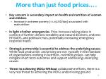 more than just food prices