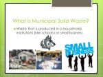 what is municipal solid waste
