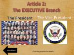 article 2 the executive branch