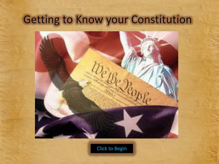 getting to know your constitution n.