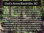 god s acres blackville sc