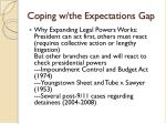 coping w the expectations gap1