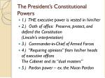 the president s constitutional powers