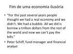 fim de uma economia ilus ria