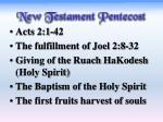 new testament pentecost