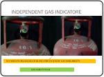 independent gas indicatore