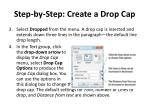 step by step create a drop cap1