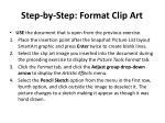 step by step format clip art