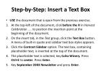 step by step insert a text box