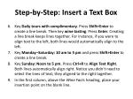 step by step insert a text box1