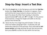 step by step insert a text box2