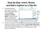 step by step insert resize and add a caption to a clip art1