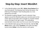 step by step insert wordart1