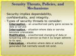 security threats policies and mechanisms