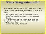 what s wrong with an acm