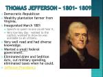 thomas jefferson 1801 1809