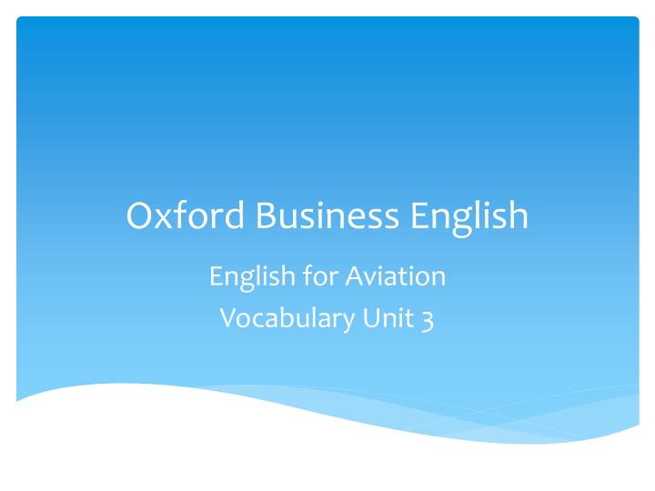 oxford business english n.