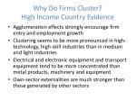 why do firms cluster high income country evidence