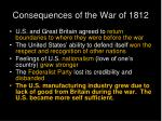consequences of the war of 1812