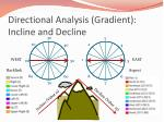 directional analysis gradient incline and decline