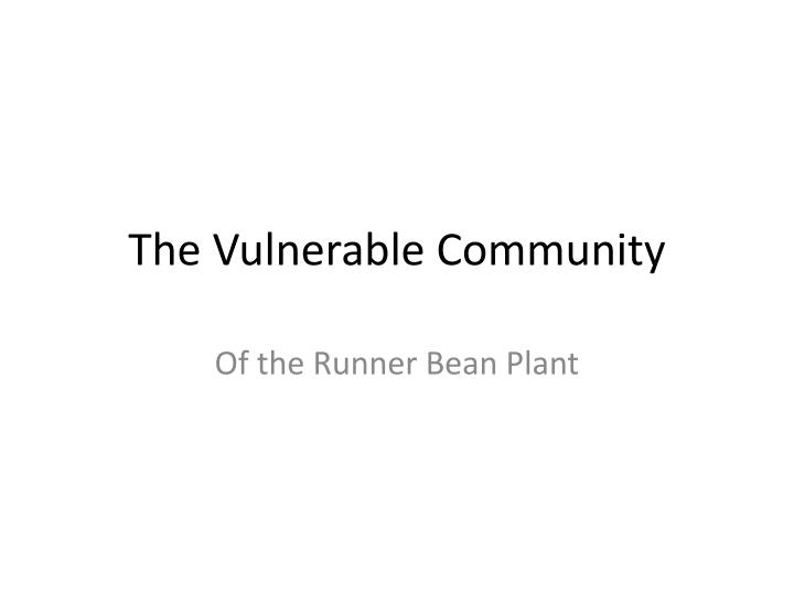 the vulnerable community n.