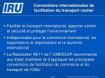 conventions internationales de facilitation du transport routier