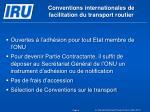 conventions internationales de facilitation du transport routier1