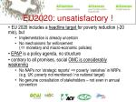 eu2020 unsatisfactory