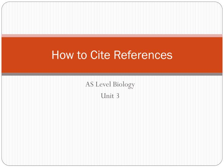 how to cite references n.
