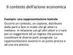il contesto dell azione economica