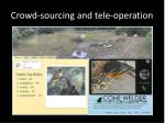 crowd sourcing and tele operation