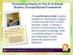 connecting inquiry to the k 12 social studies concept based framework2
