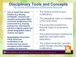disciplinary tools and concepts
