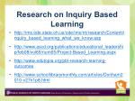 research on inquiry based learning