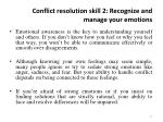 conflict resolution skill 2 recognize and manage your emotions