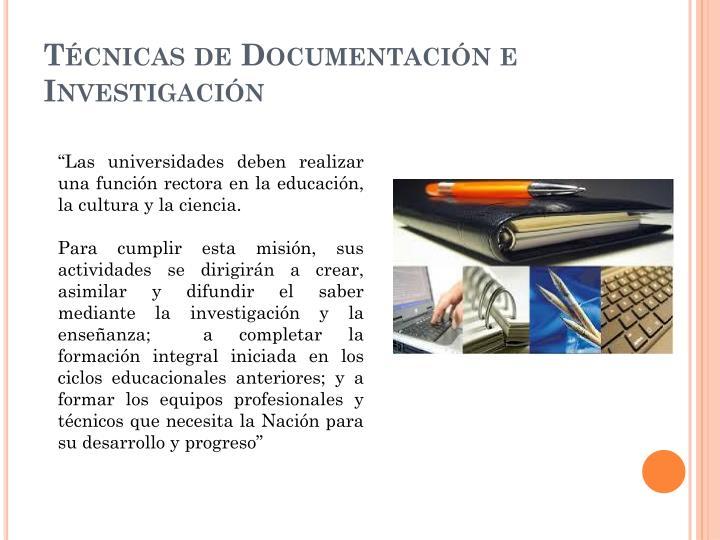 T cnicas de documentaci n e investigaci n