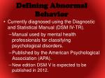 defining abnormal behavior1