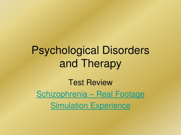 psychological disorders and therapy n.