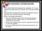 reviewing homework