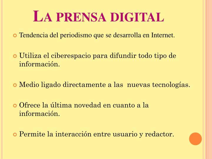 La prensa digital