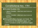 constitutional act 1791