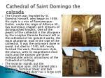 cathedral of saint domingo the calzada