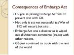 consequences of embargo act